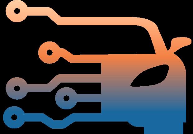 Icône véhicule connecté